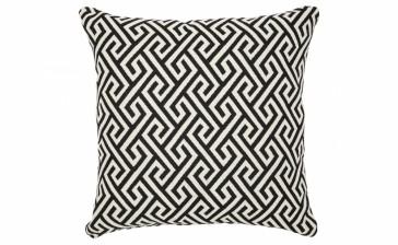 Cafe Lighting Greek Key Cushion - Black Feather Fill 55x55