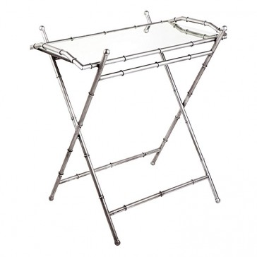 Cafe Lighting Tansu Tray Table, Antique Silver