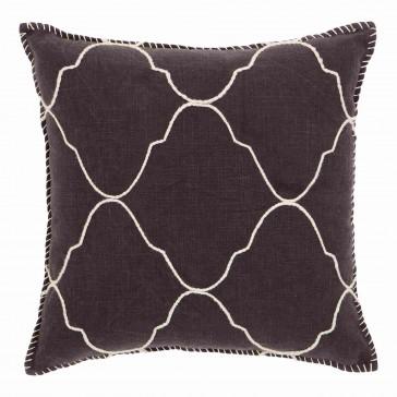 Grey Mosaic Blanket Stitched Cushion