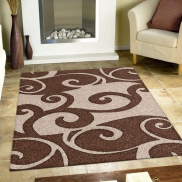 Havana Brown Imperial Carving Rug by Saray Rugs
