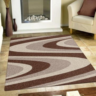 Coastal Brown Imperial Carving Rug by Saray Rugs