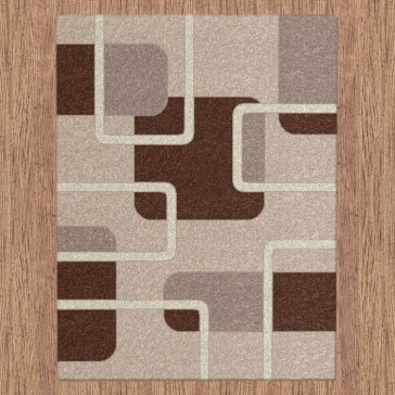 Padding Beige Imperial Carving Rug by Saray Rugs