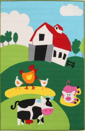 Little Circus Barn Yard Farm By Rug Culture