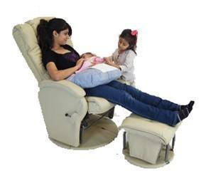 Babyhood Manhattan Glider Feeding Chair & Ottoman