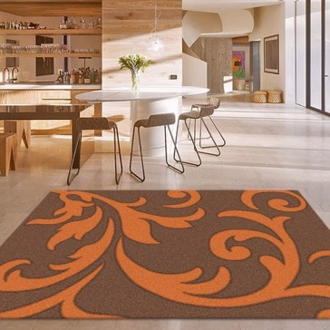 Vibrant Copper Vivid Collection Rug by Saray Rugs