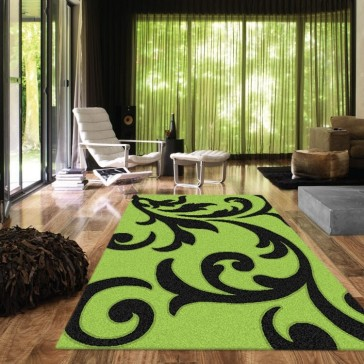 Vibrant Lime Vivid Collection Rug by Saray Rugs