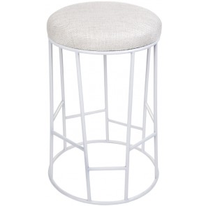 Aiden Kitchen Stool Natural w White Frame