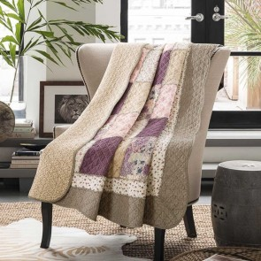 Macey & Moore Mauve Flora Throw