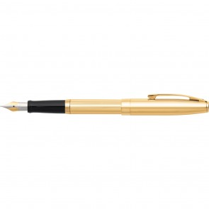 Sagaris Fluted Gold/Gold Tone Trim Fountain Pen [Medium Nib]