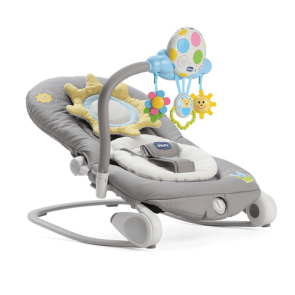 Chicco Bouncer Balloon Musical Rocker - Dark Grey