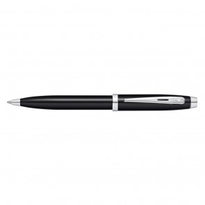 Sheaffer 100 Black Lacquer/Chrome Plate Ballpoint Pen (Self-Serve Packaging)