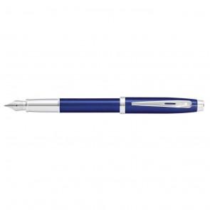 Sheaffer 100 Blue Lacquer/Chrome Plate Fountain Pen [Medium Nib](Self-Serve Packaging)