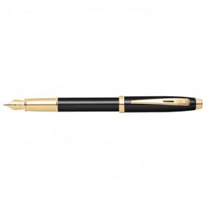 Sheaffer 100 Black Lacquer with Gold Tone Fountain Pen [Medium Nib]