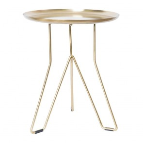 Levon Side Table Gold by J Elliot Home