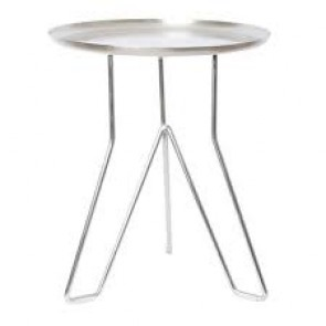 Levon Side Table Silver by J Elliot Home