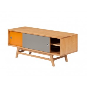 6ixty Orange/ Grey TV Unit 120cm