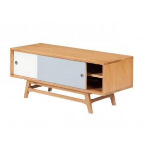 6ixty White/ Grey TV Unit 120cm