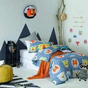 Funny Faces Queen Quilt Cover Set by Jiggle & Giggle