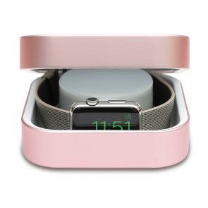 Amber Rose Gold Apple Watch Case & Powerbank by Alldock