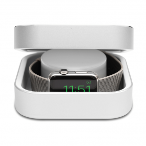 Amber Silver Apple Watch Case & Powerbank by Alldock