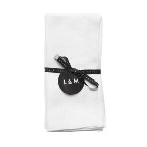 Linen and Moore Moss White Napkin Set