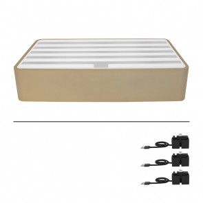 Alldock Large Alu Gold & White Package