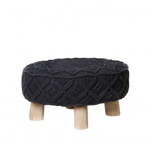 Mathias Stool Charcoal by J Elliot Home