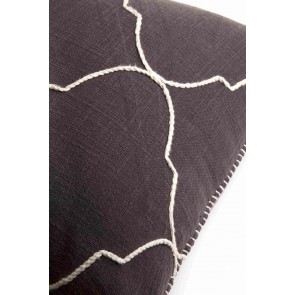 Grey Mosaic Blanket Stitched Cushion by Alexander Santorini