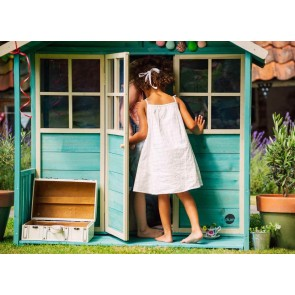 Plum Play Deckhouse Teal Wooden Playhouse