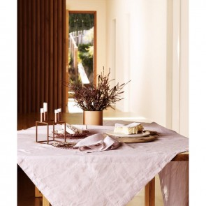 Linen and Moore Moss Blush Table Cloth