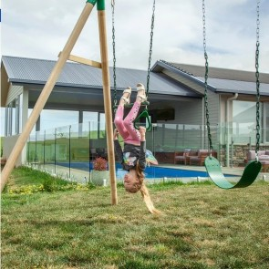 Lifespan Kids Wesley Double Swing with Trapeze