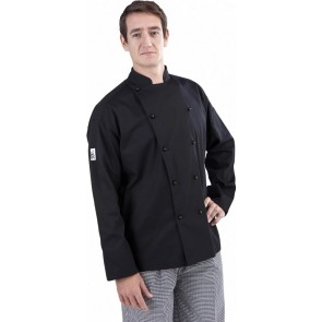 CR Classic Black Long Sleeve Chef Jacket by Global Chef