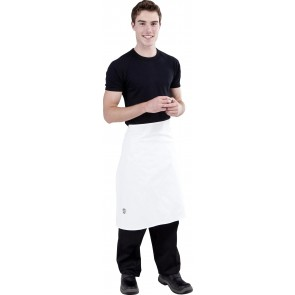 Black Chefs Waist 3/4 Apron by Global Chef
