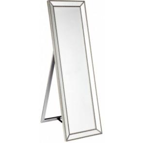 Cafe Lighting Zeta Cheval Mirror - Antique Silver