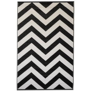 Laguna Black Outdoor Rug by FAB Rugs