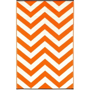 Laguna Orange Outdoor Rug by FAB Rugs