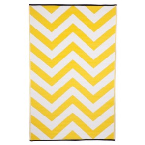 Laguna Yellow Outdoor Rug by FAB Rugs