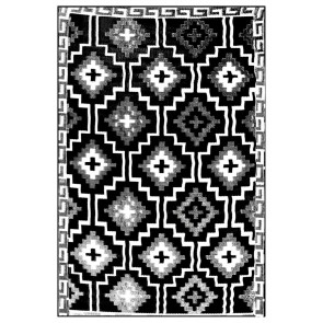 Lhasa Black & Cream Outdoor Rug by FAB Rugs