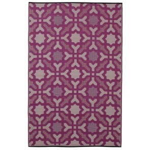 Seville Purple Outdoor Rug by FAB Rugs