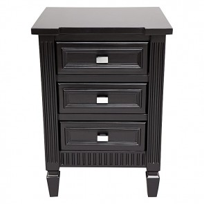 Merci Bedside Table Black Small by Cafe Lighting