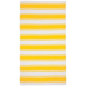 Lucky Bright Yellow Rug by FAB Rugs