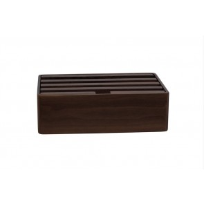AllDock Walnut 4-Port Charging Station