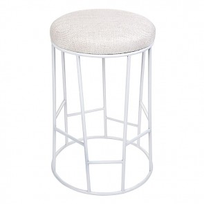 Cafe Lighting Aiden Bar Stool White