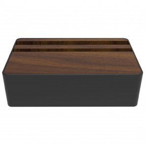 AllDock Black/Walnut HybridX Compact Charging Station