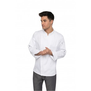 Hartford White Zipper Chef Jacket by Chef Works