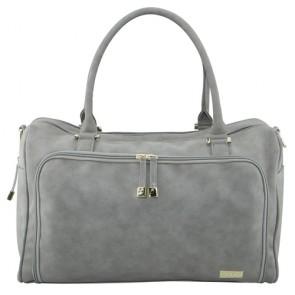 Stone Double Zip Satchel nappy bag by isoki