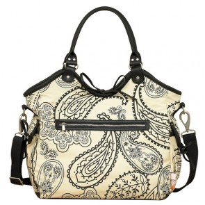 Paisley Reversible Hobo Retro nappy bag by isoki