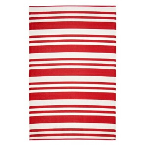 Cherai Bright Red Rug by FAB Rugs
