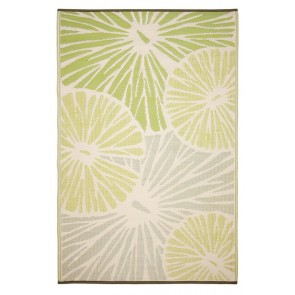 Citrus Lily Green Rugs by FAB Rugs