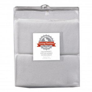 2 Pack Jersey Bassinet Fitted Sheets by Living Textiles